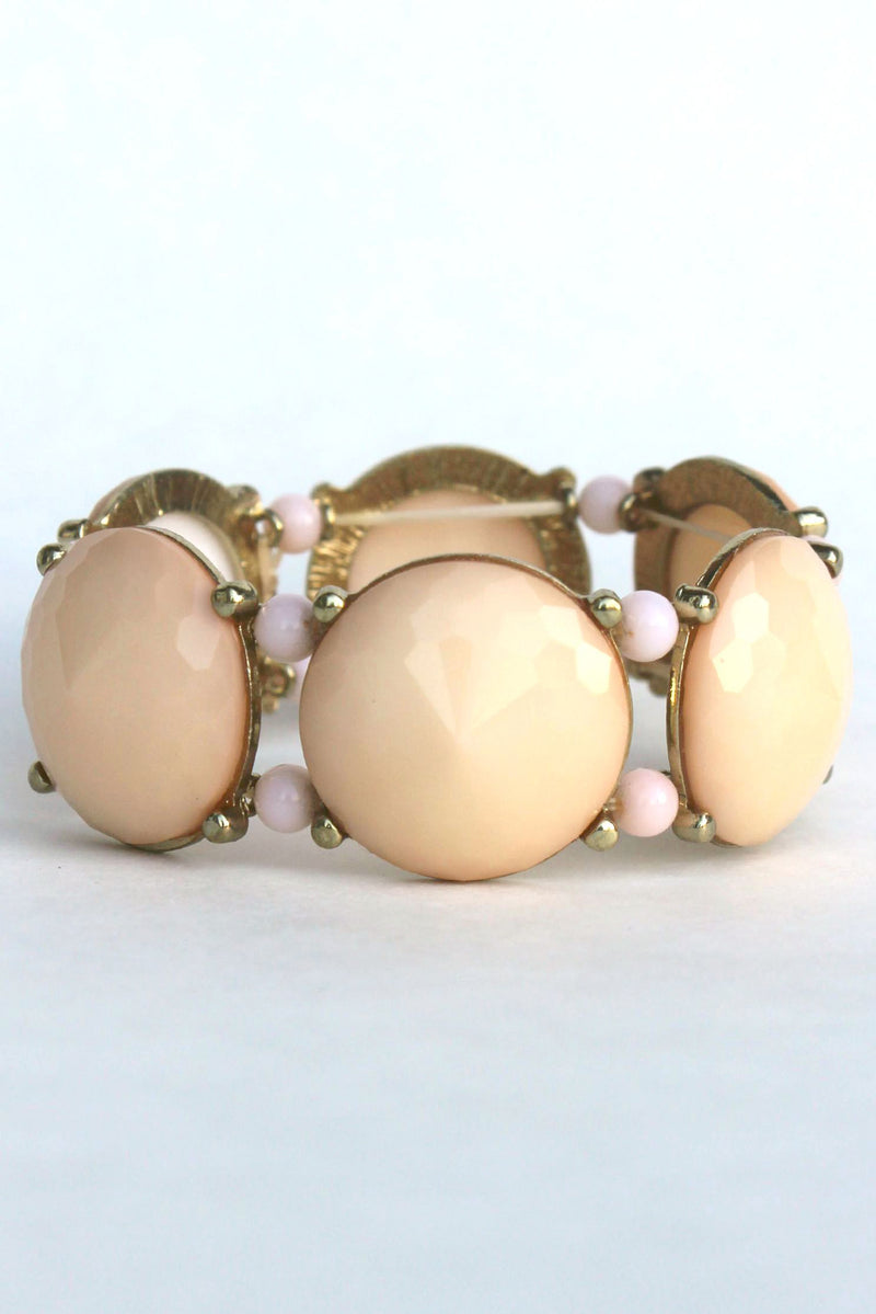 Beaded Statement Bracelet, Beige