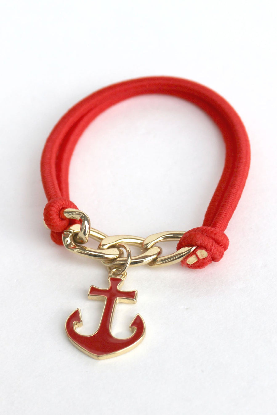 Anchor Bracelet, Red