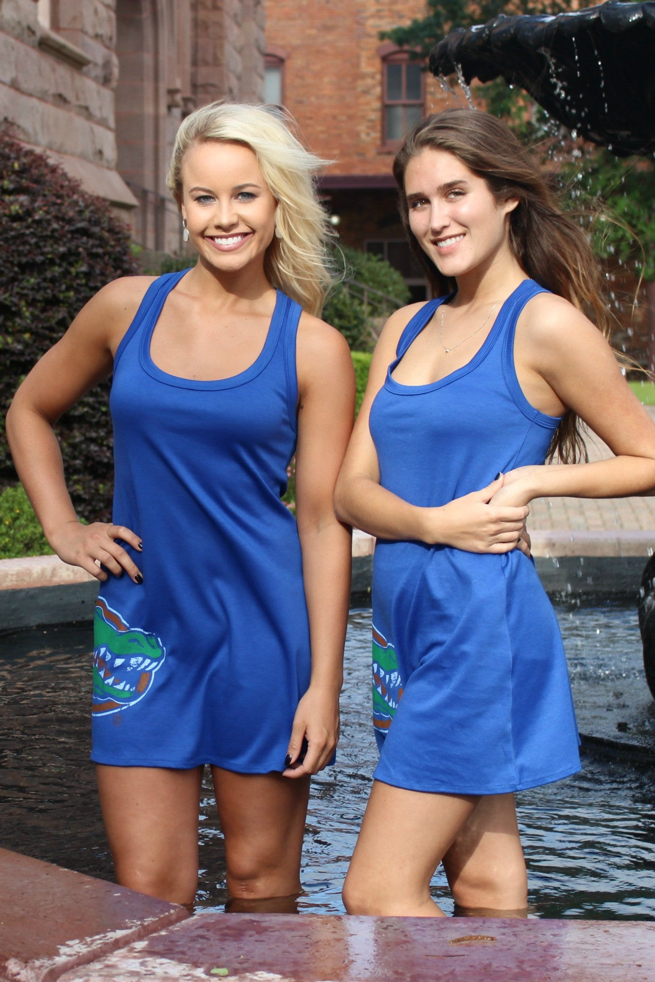 Judith March: Gator Dress, Blue