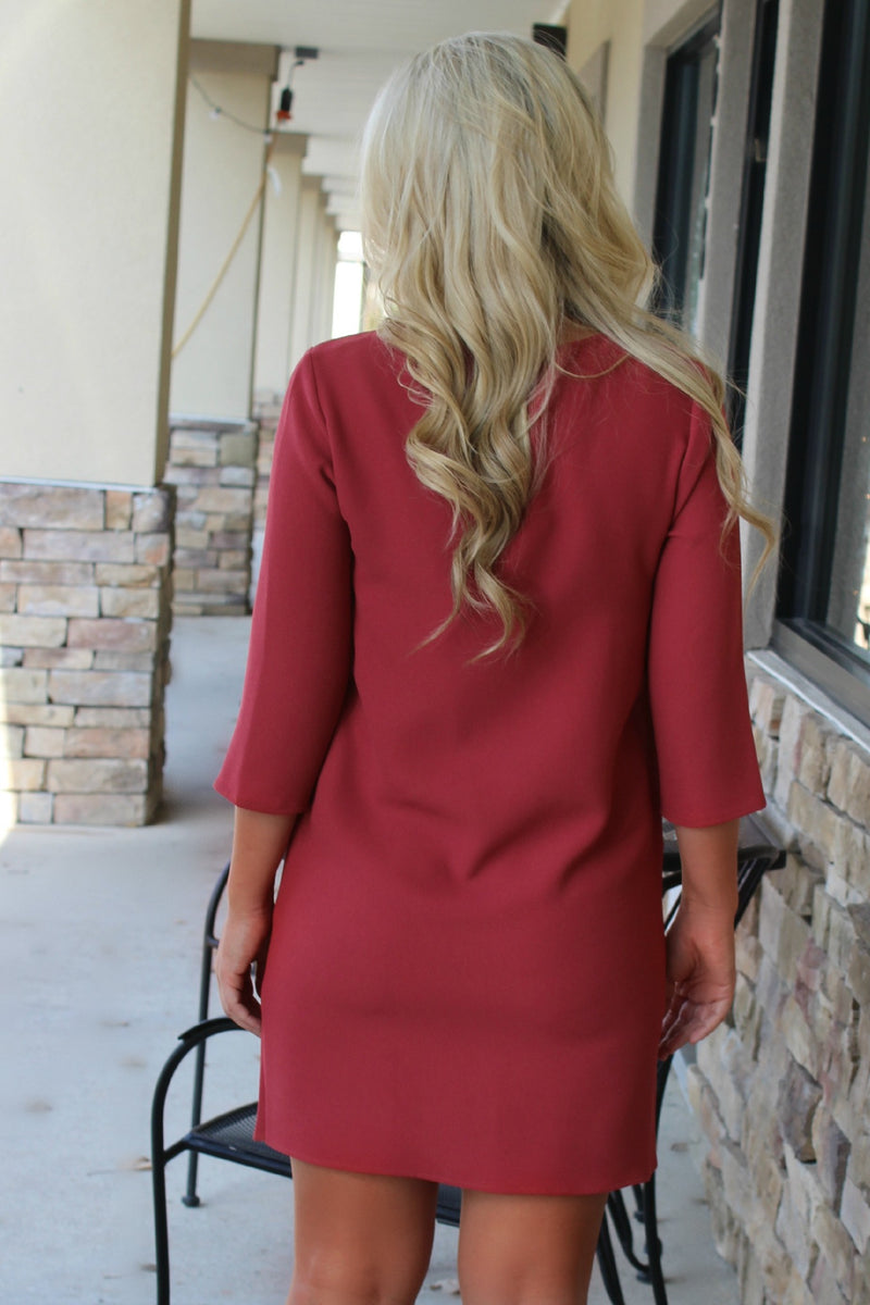 Everly: Caroline Dress, Brick