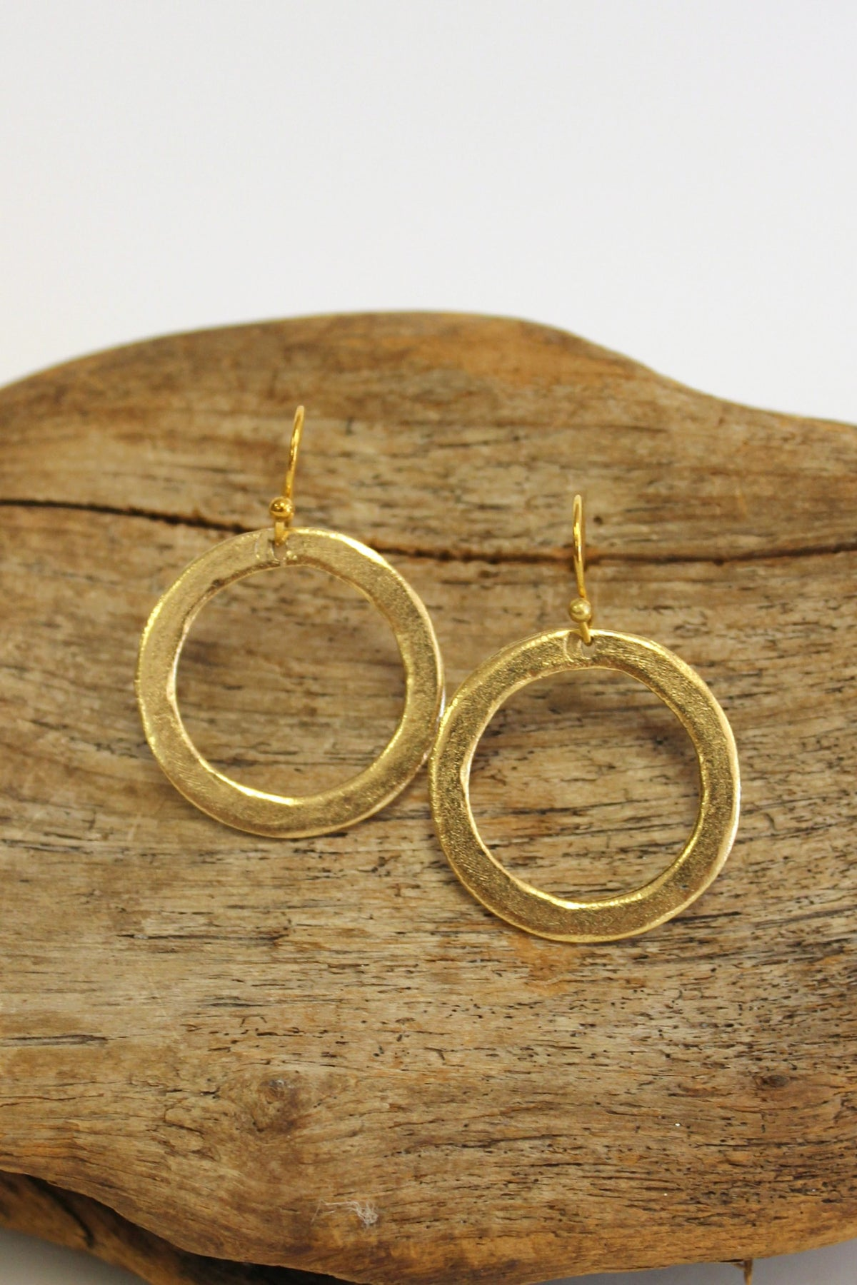Julio: Circle Earrings, Gold