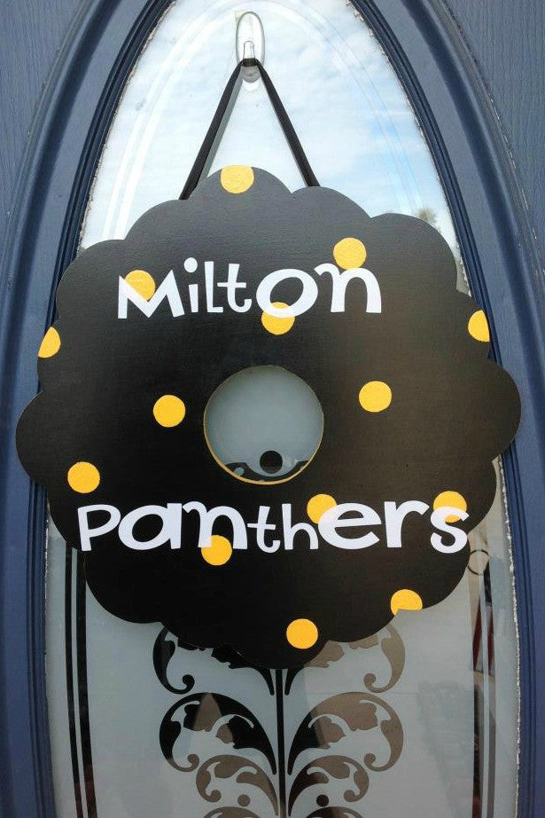 aDOORable deSIGN: Milton Panthers, Black/Gold