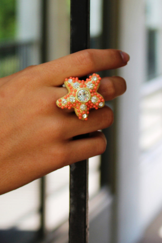 Starfish Ring, Salmon