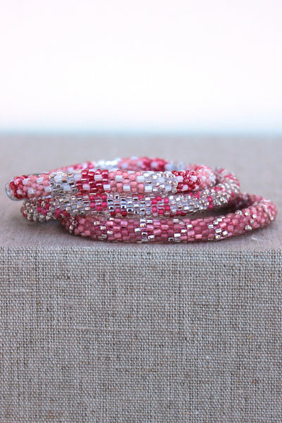 Lily and Laura: Bracelet Set, Pink