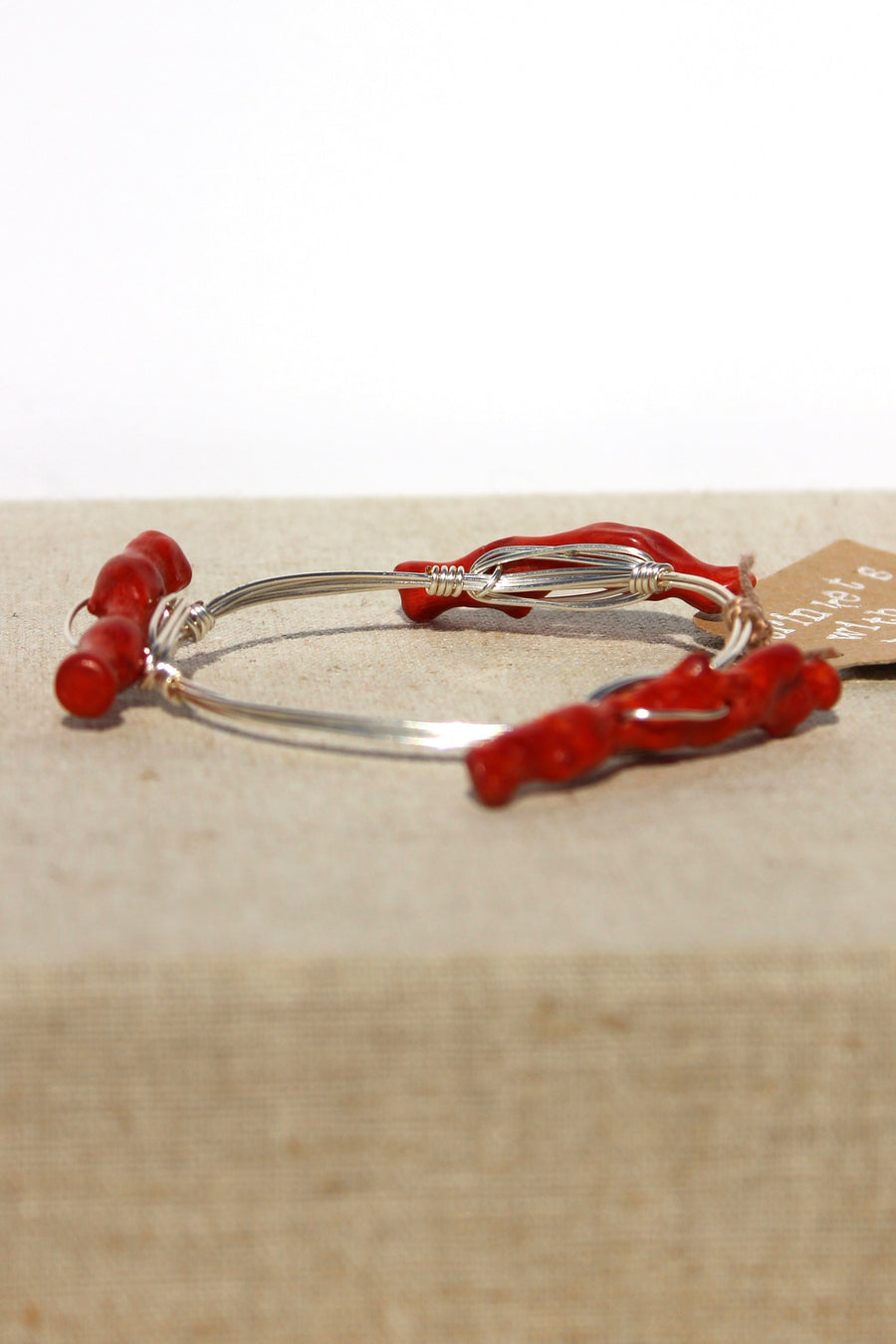 Coral Reef Bangle, Red