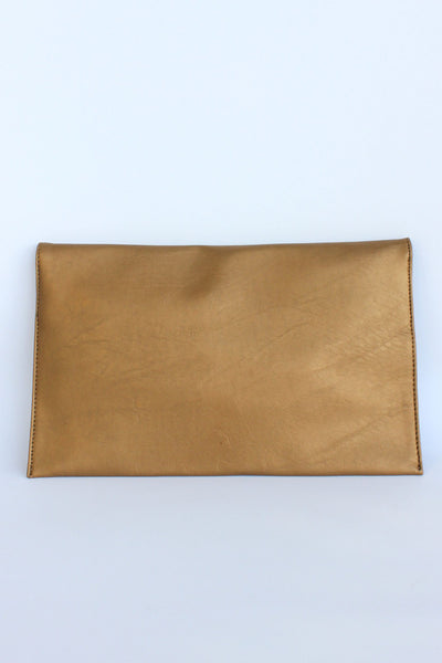 Envelope Clutch, Gold