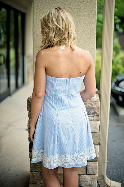 Southern Frock: Ella Dress, Blue