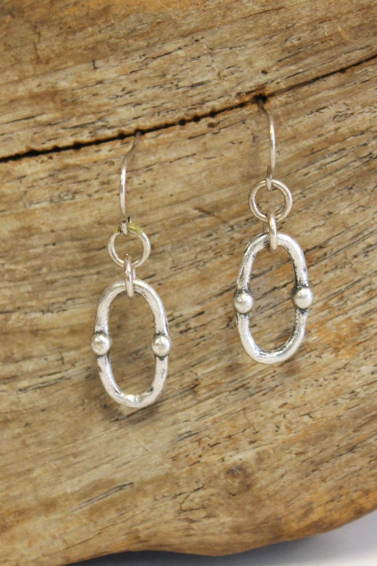 Oval Earrings, Agerd Silver