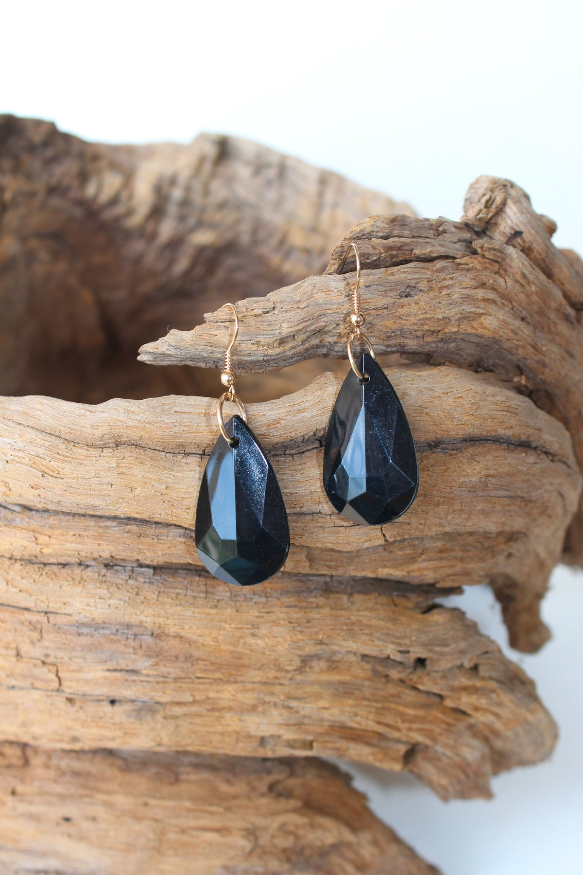 Marquise Drop Earrings, Black