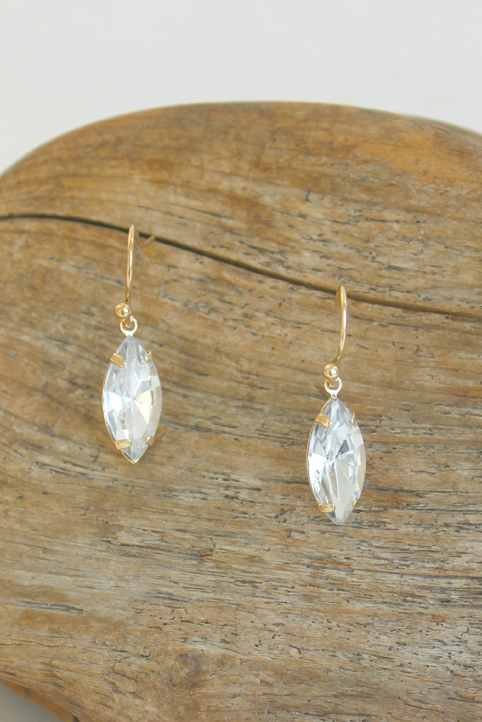 Sparkle Marquise Earrings, Crystal