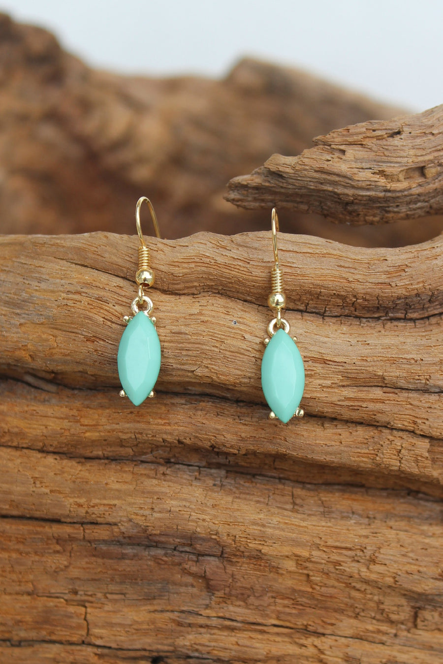Marquise Earrings, Mint