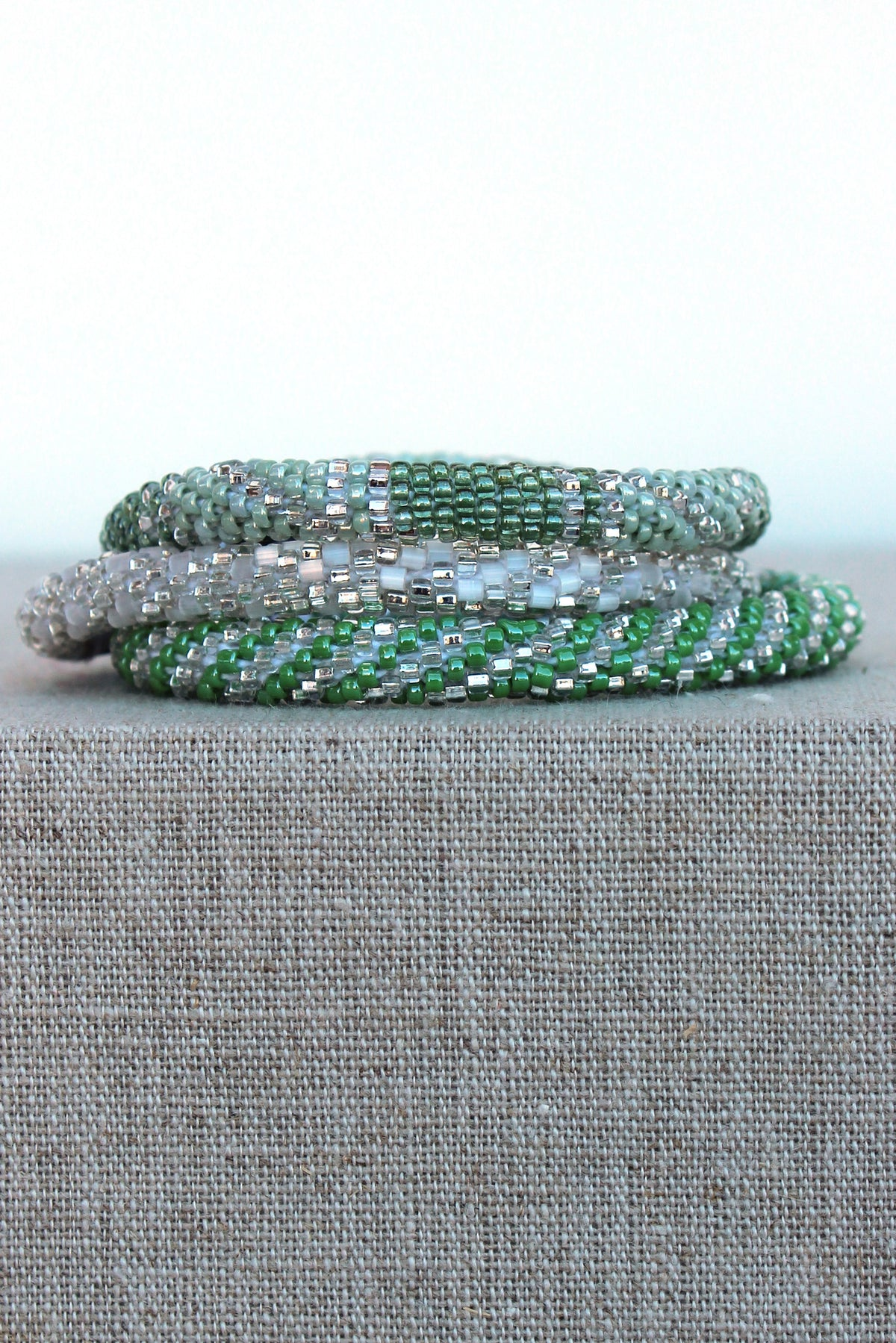 Lily and Laura: Bracelet Set, Green