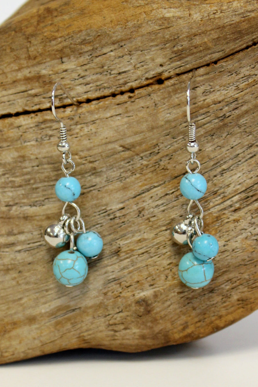 Mini Beads Cluster Earrings, Turquoise