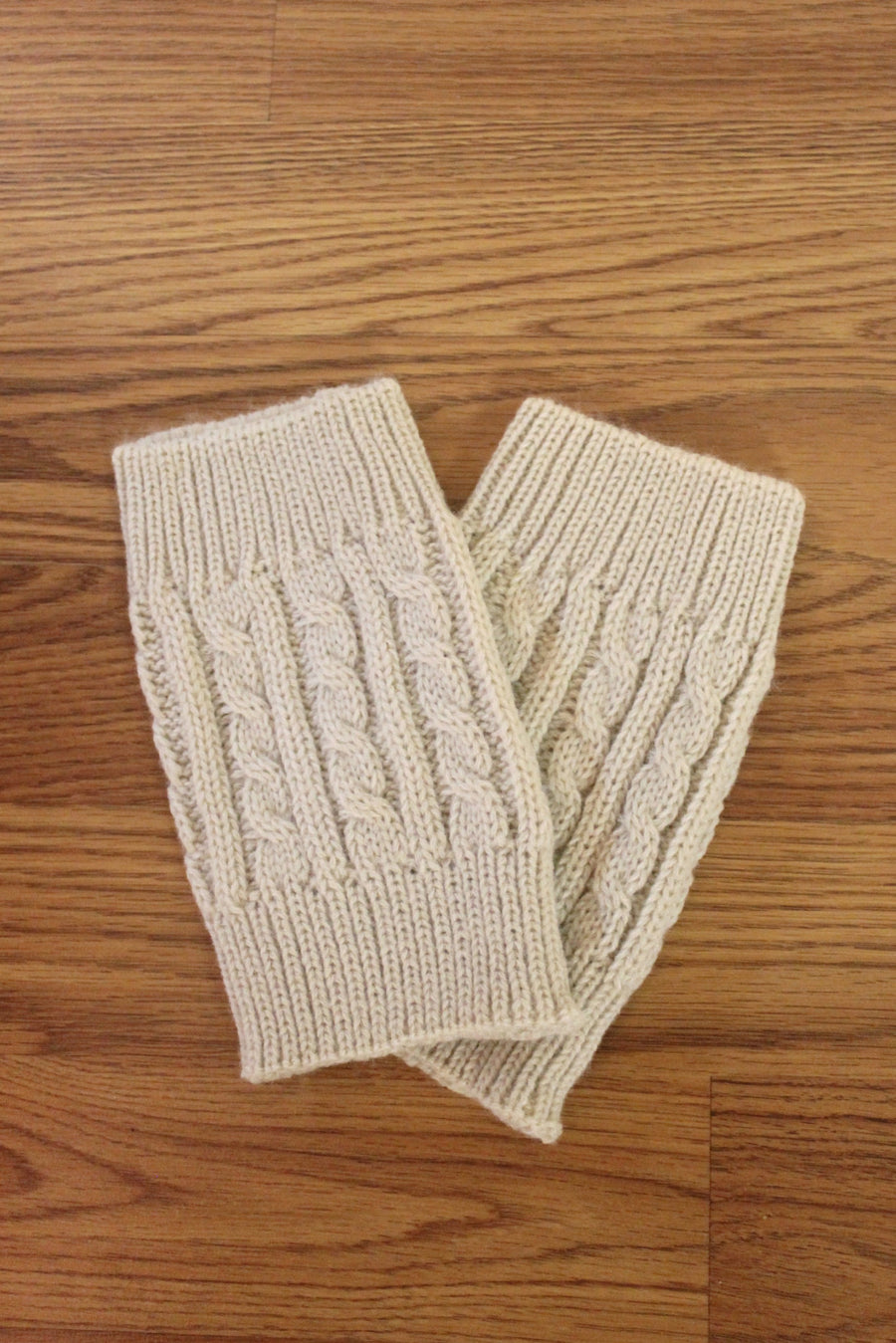 Cable Stitch Boot Cuffs, Oatmeal