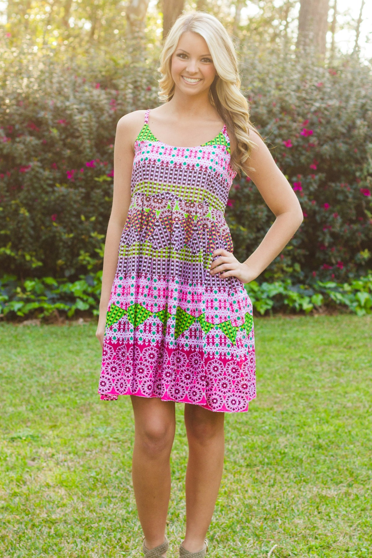 Uncle Frank: Shanna Dress, Pink Multi