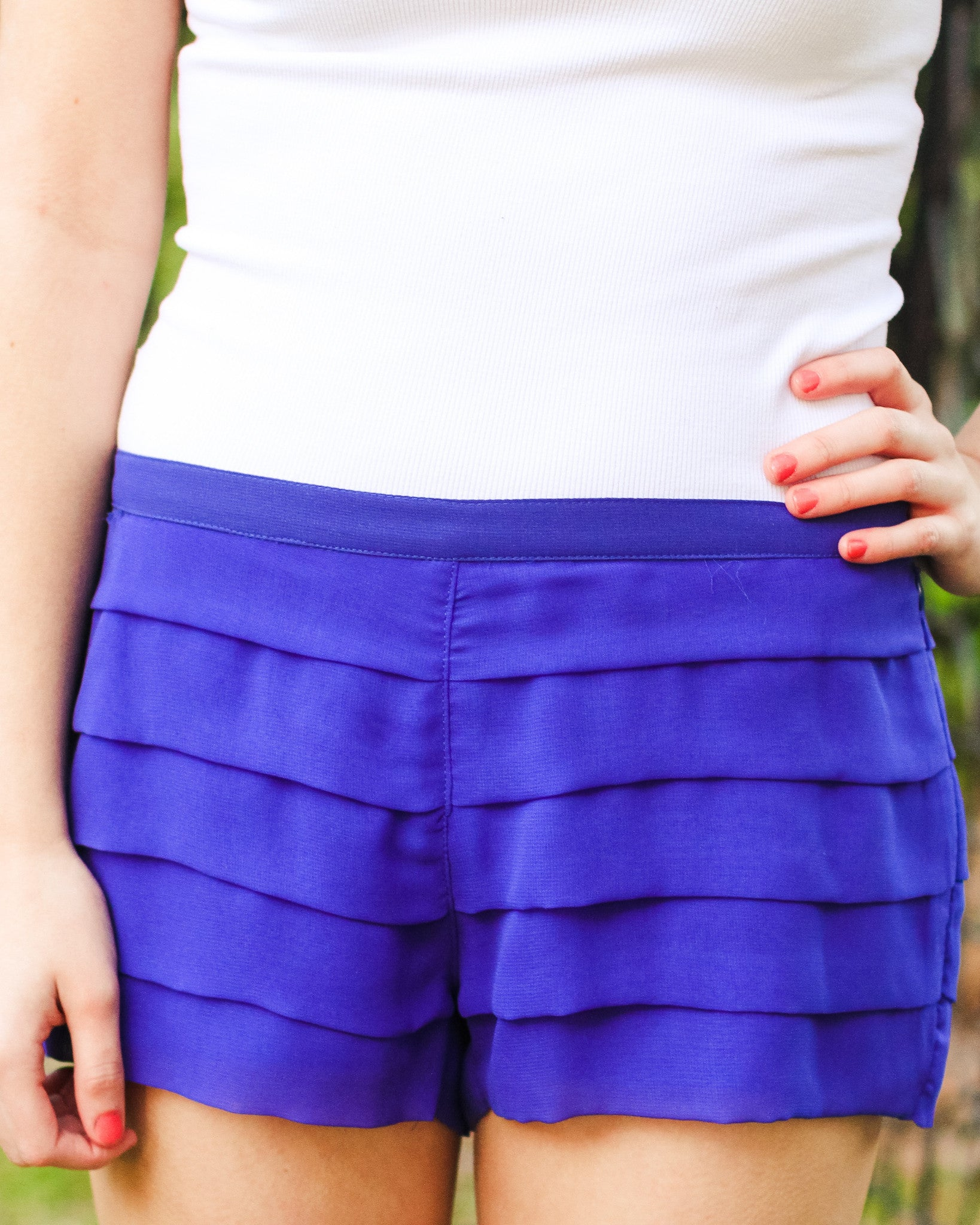 Brooke Shorts, Blue