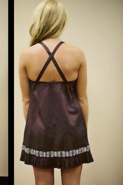 Free People: Native Sun Shift Dress, Purple