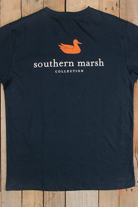 Southern Marsh: Auburn - Authentic Collegiate Tee, Navy