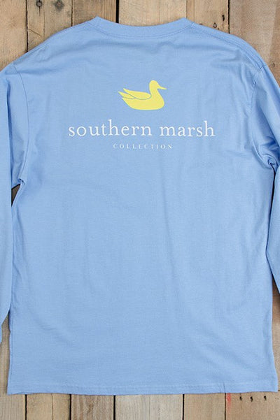 Southern Marsh: Authentic Long Sleeve Tee, Blue