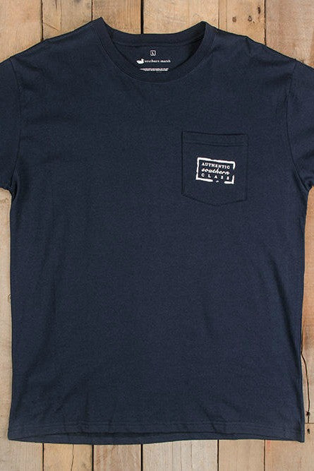 Southern Marsh: Authentic Tee, Navy