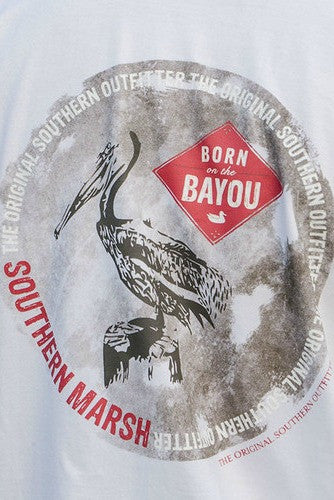 "Southern Marsh: ""Bayou Outfitter"" Tee, White"