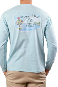 Mobile Bay: Bayside Fishing Long Sleeve Tee, Blue