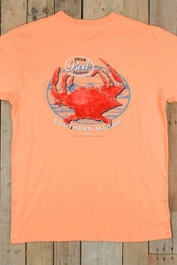 "Southern Marsh: ""Crab Boil Festival"" Tee, Melon"