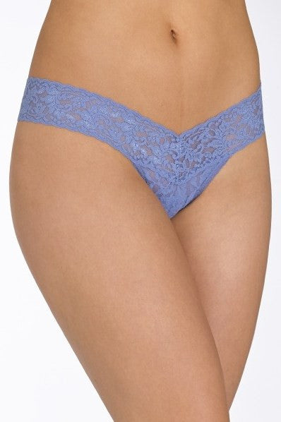 Hanky Panky: Signature Lace Low Rise Thong, Chambray