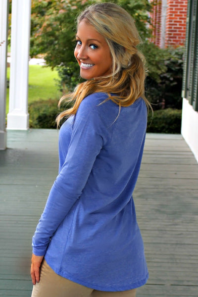 Gemma Top, Blue