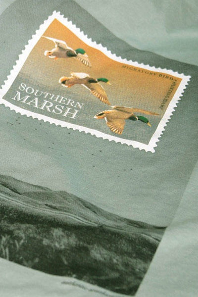 Southern Marsh: Duck Stamp Tee, Bay Green