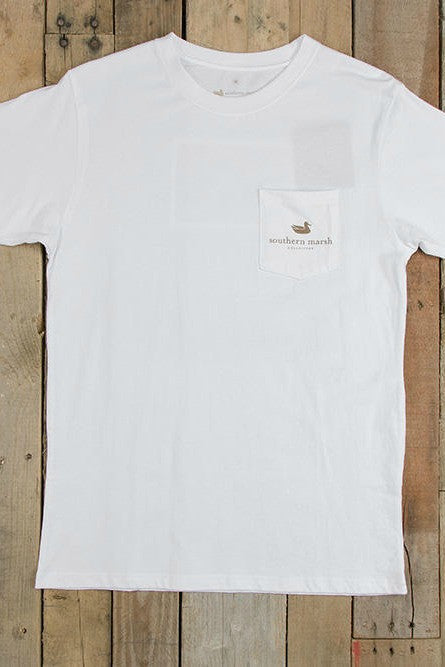 Southern Marsh: Duck Stamp Tee, White