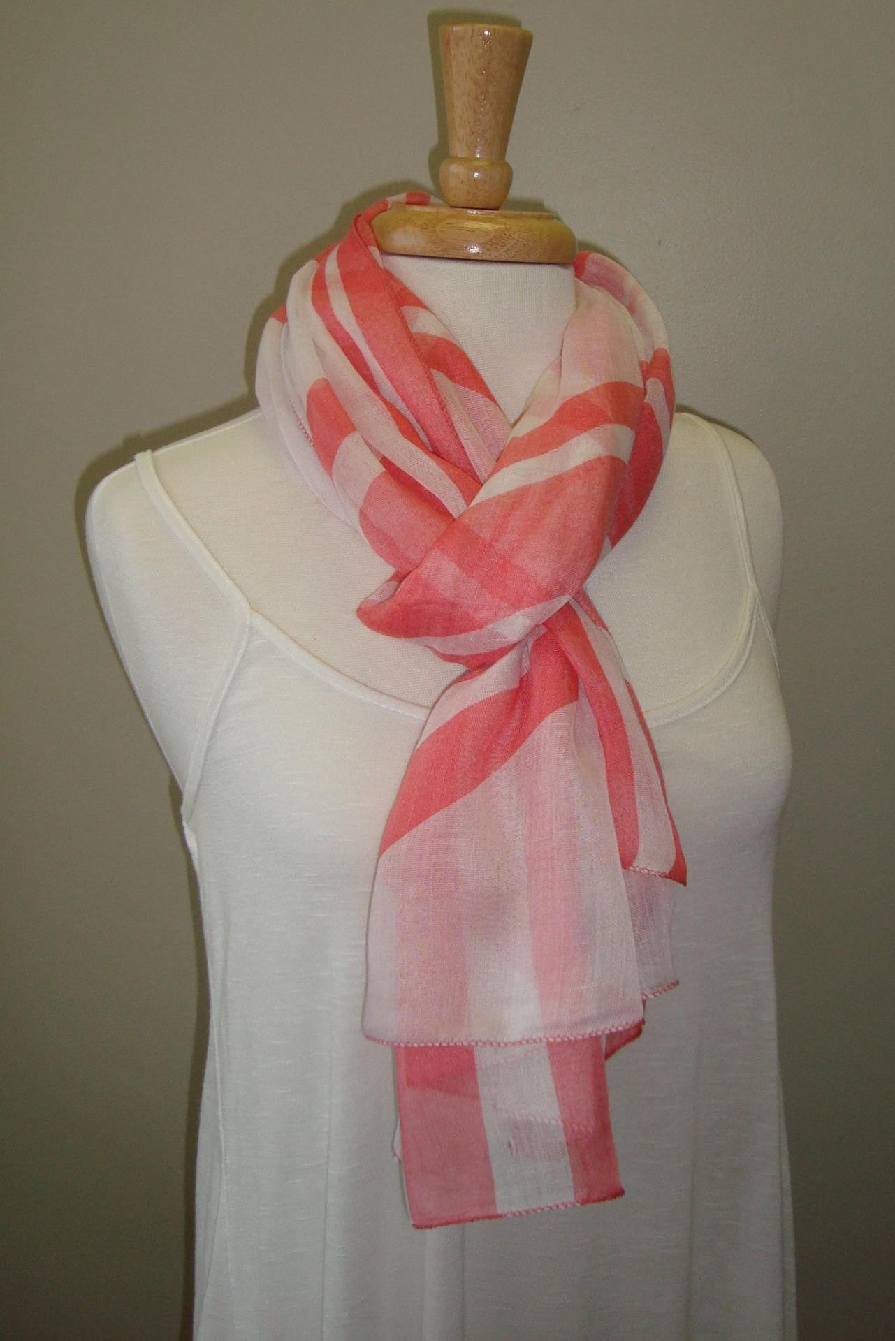 Blaire Scarf, Pink/White