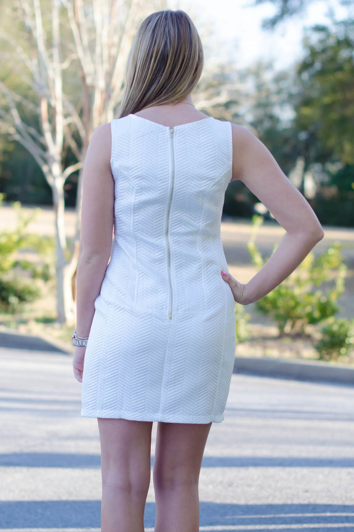 Daphne Dress, White
