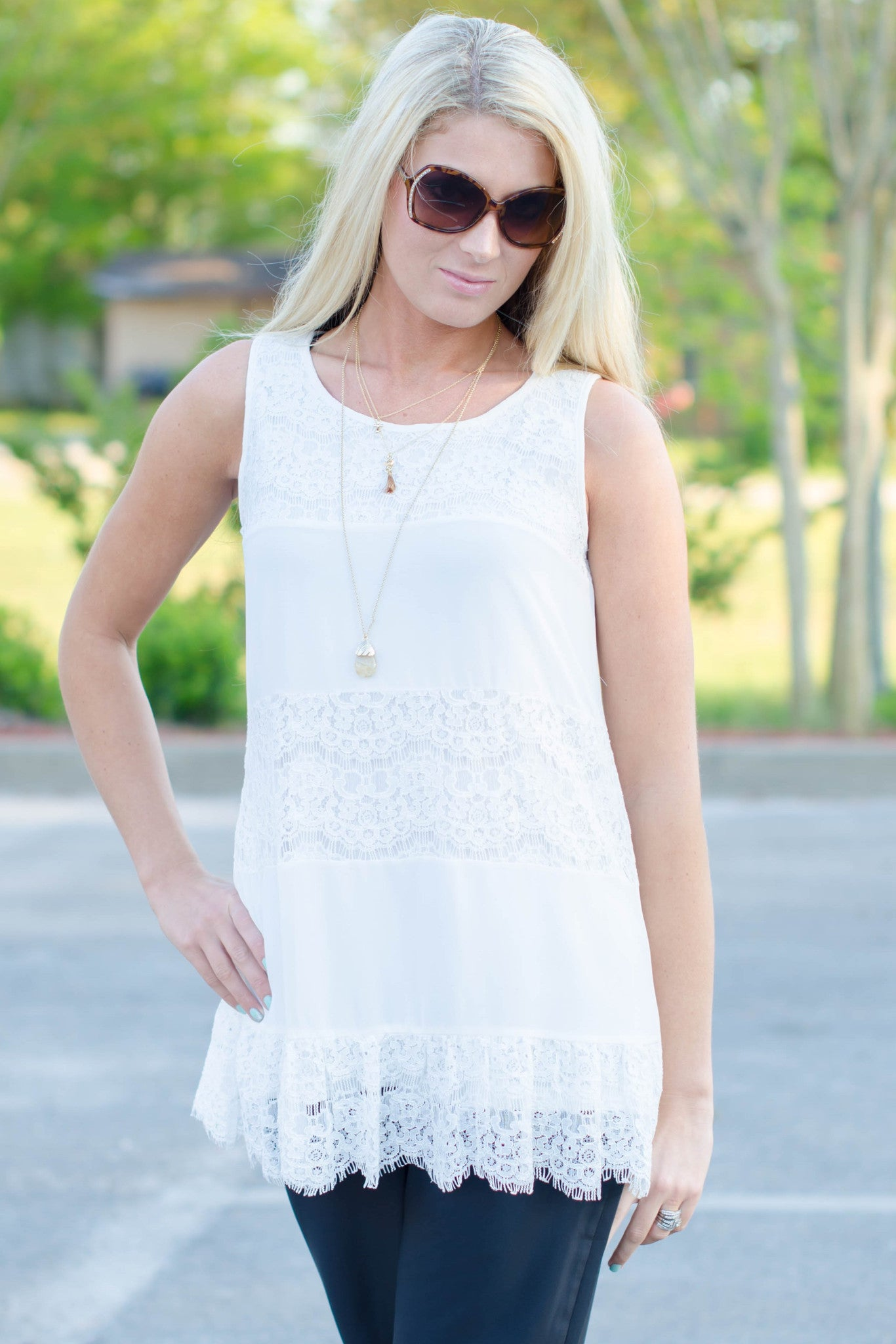 Darling: Kelsey Top, Ivory