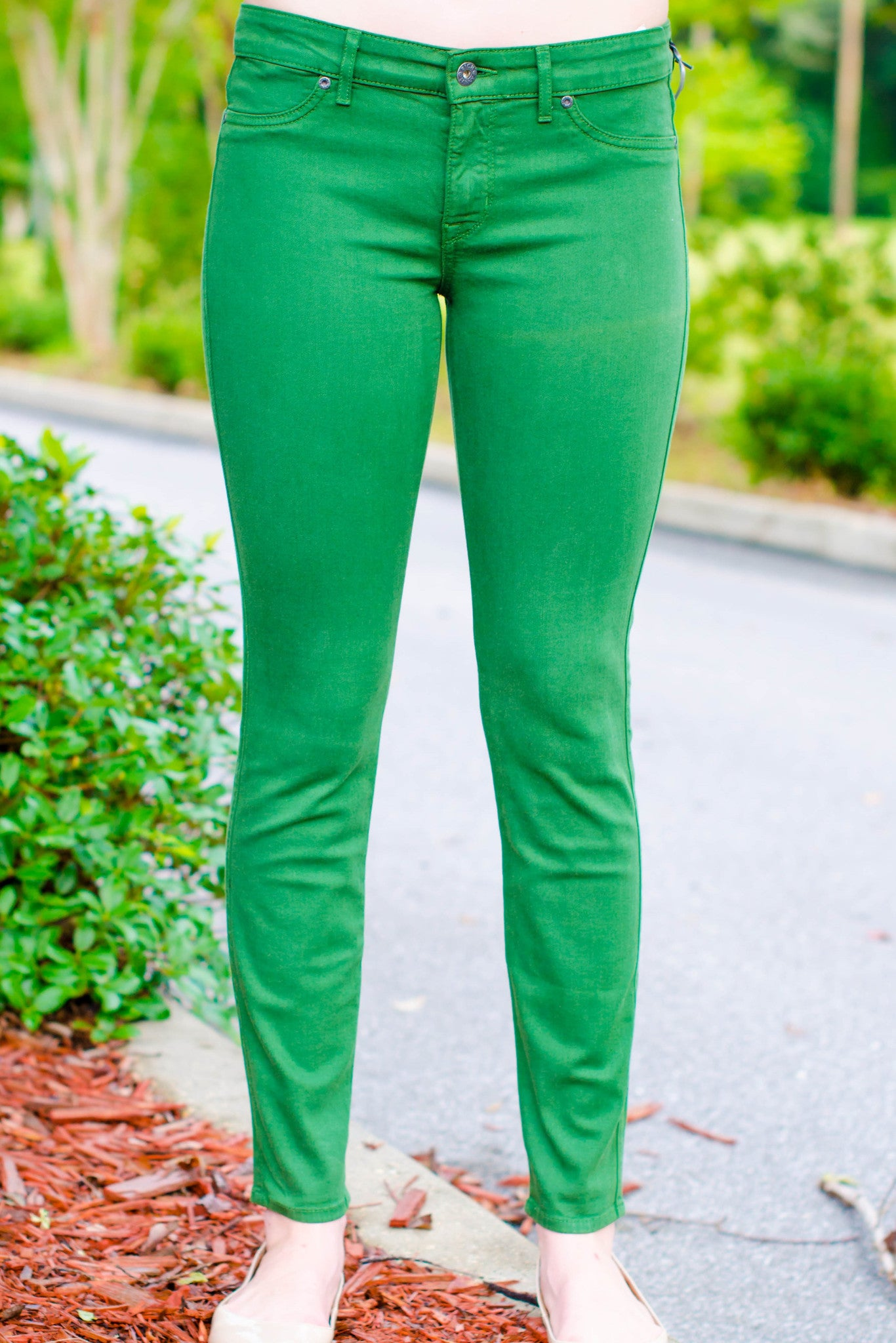 Rich & Skinny: Legacy Jeans, Green