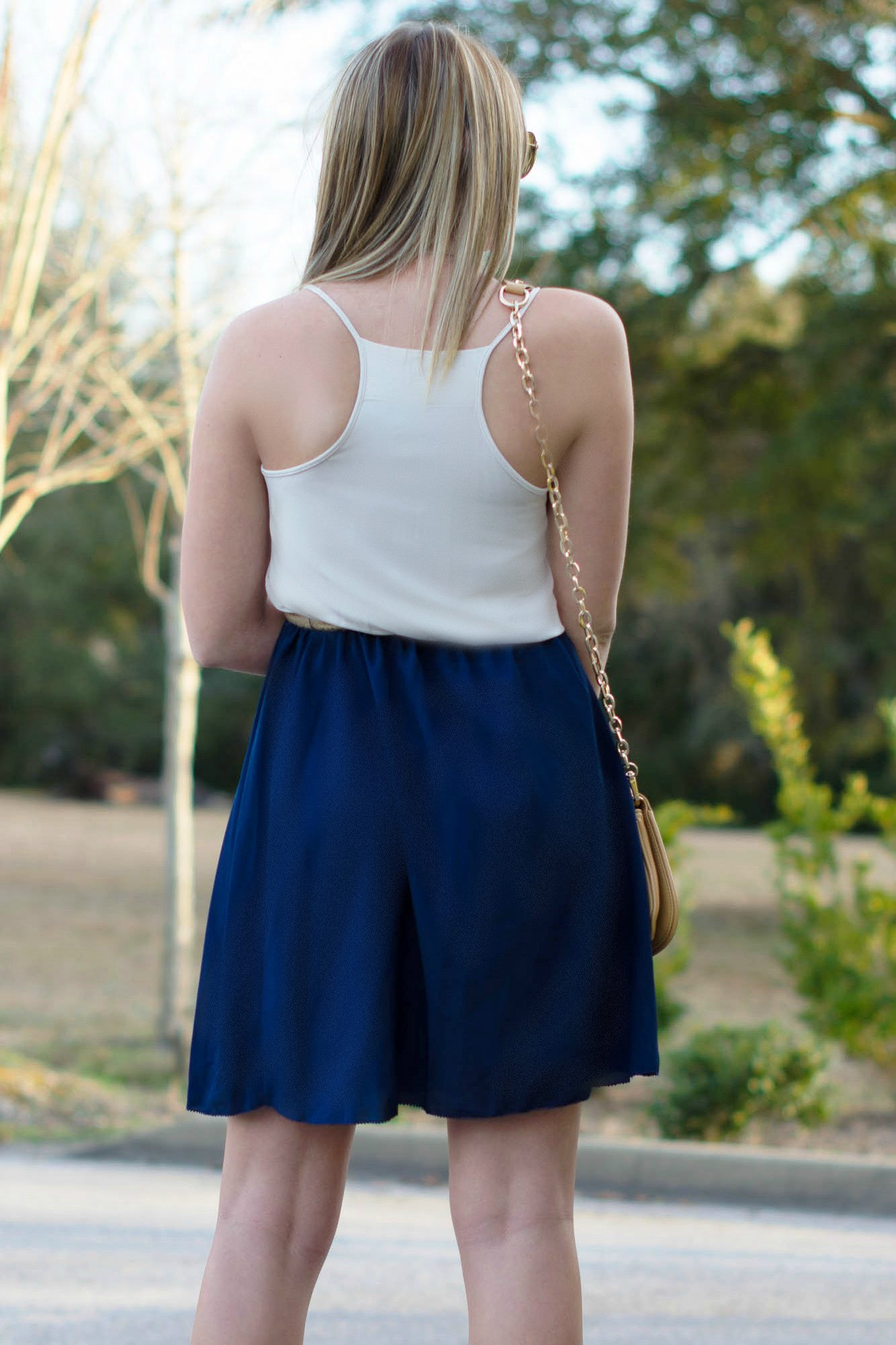 Kensie: Walking on Sunshine Dress, Navy/White