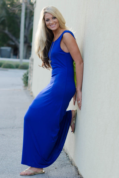 Presley Maxi Dress, Blue