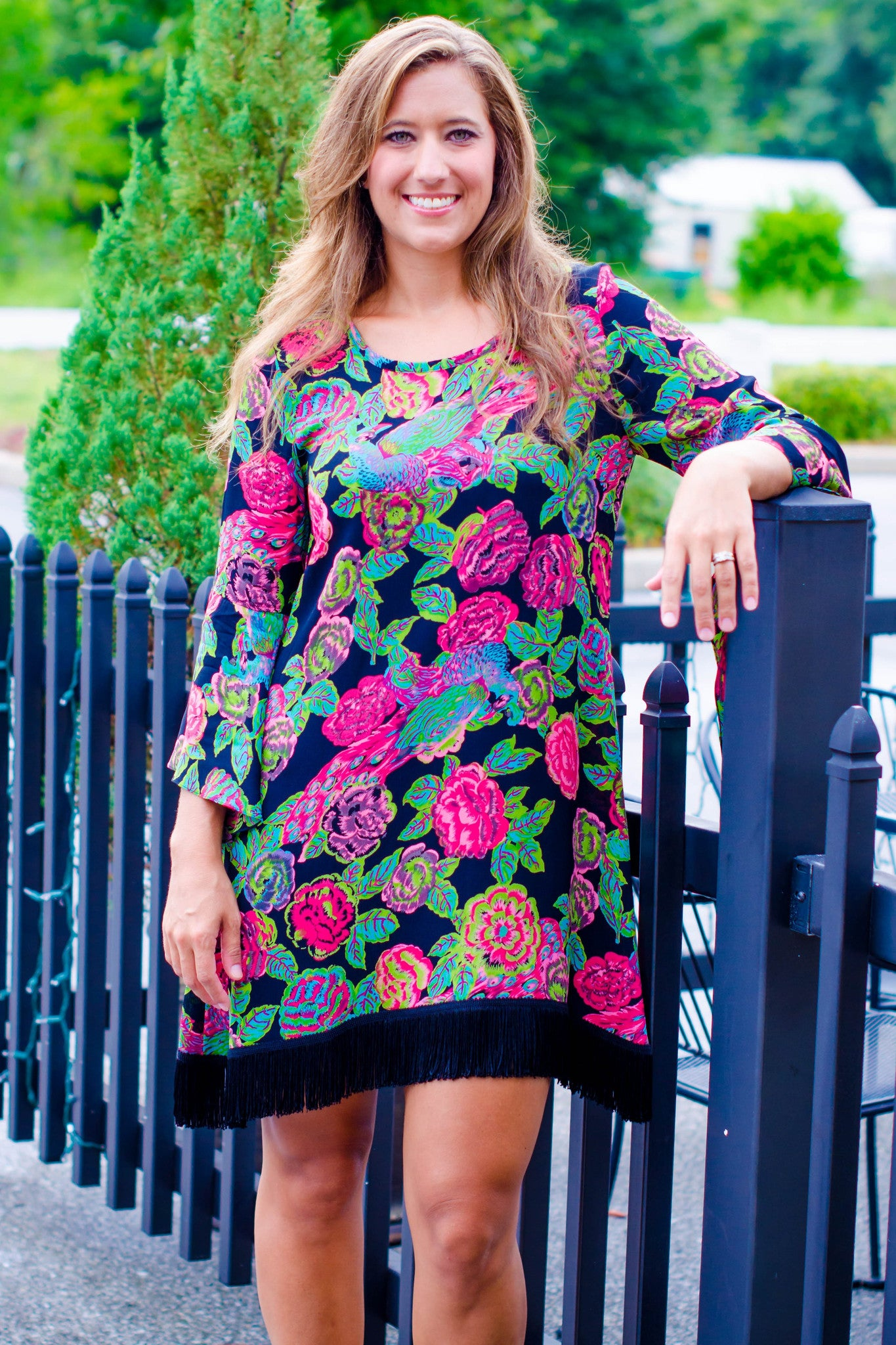 Uncle Frank: Meagan Dress, Black Floral