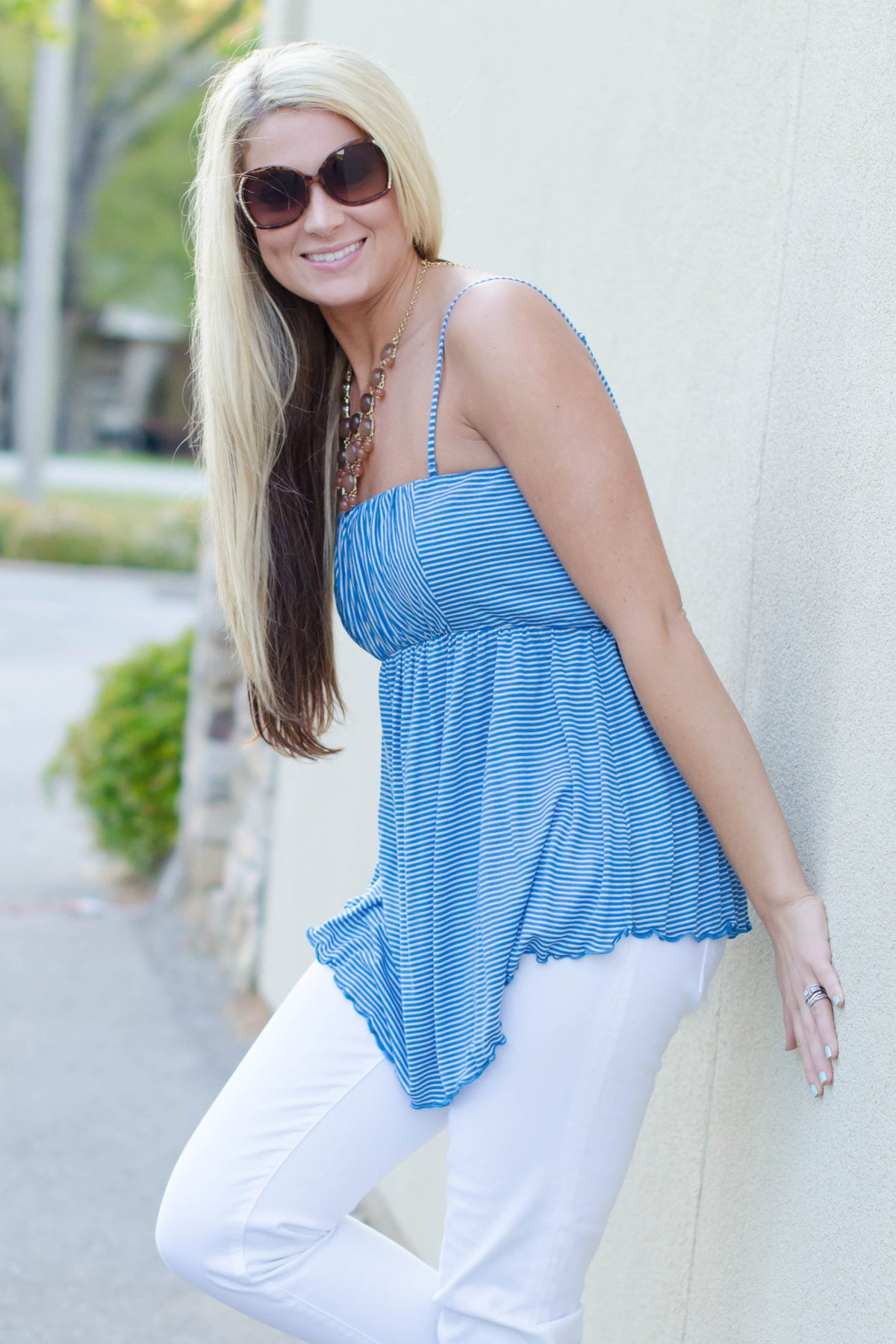 Free People: Alexa Top, Blue