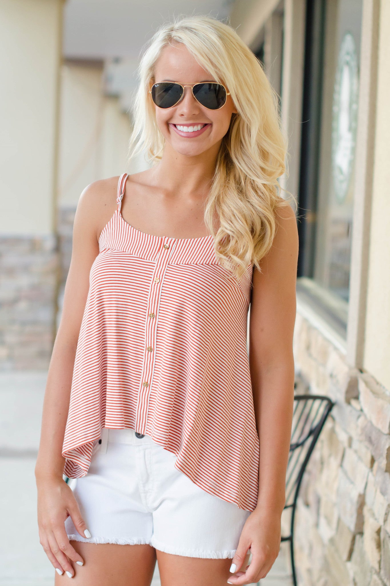 Mink Pink: Leah Top, Red/White