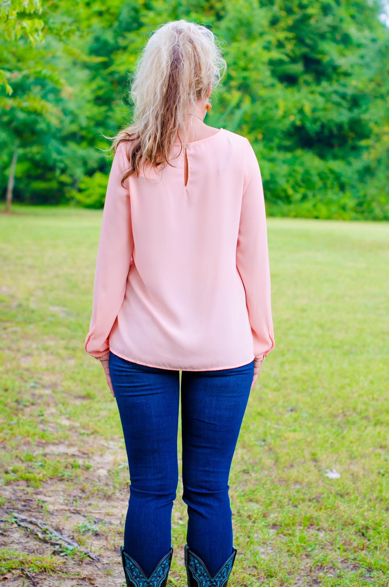 Glam: Tia Top, Peach