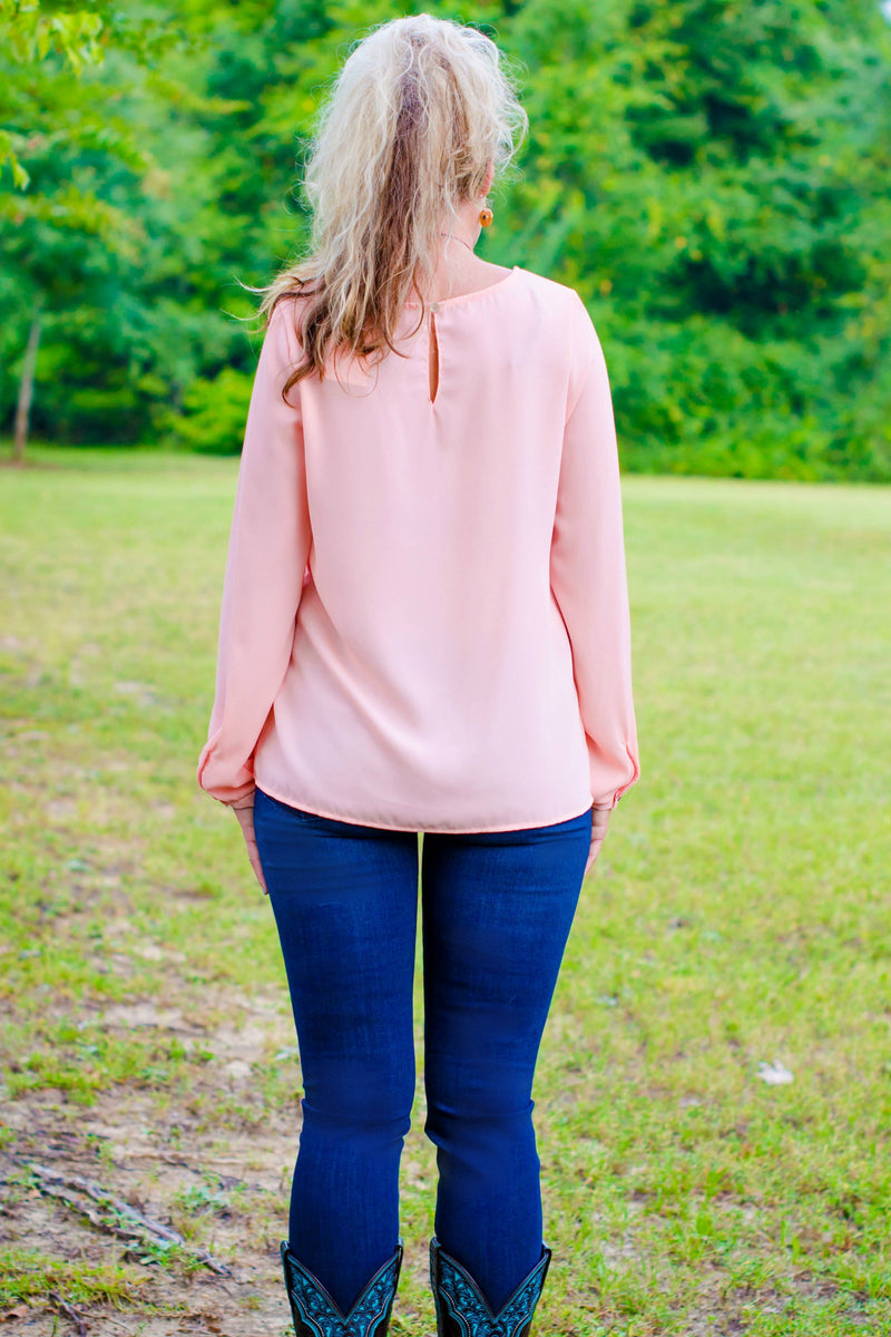 Ashton Blouse, Peach