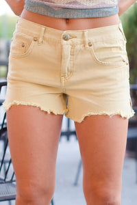Free People: McKinley Shorts, Yellow