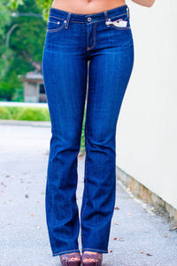 AG Jeans: Jessie Slimming Boot Fit, Dark Blue