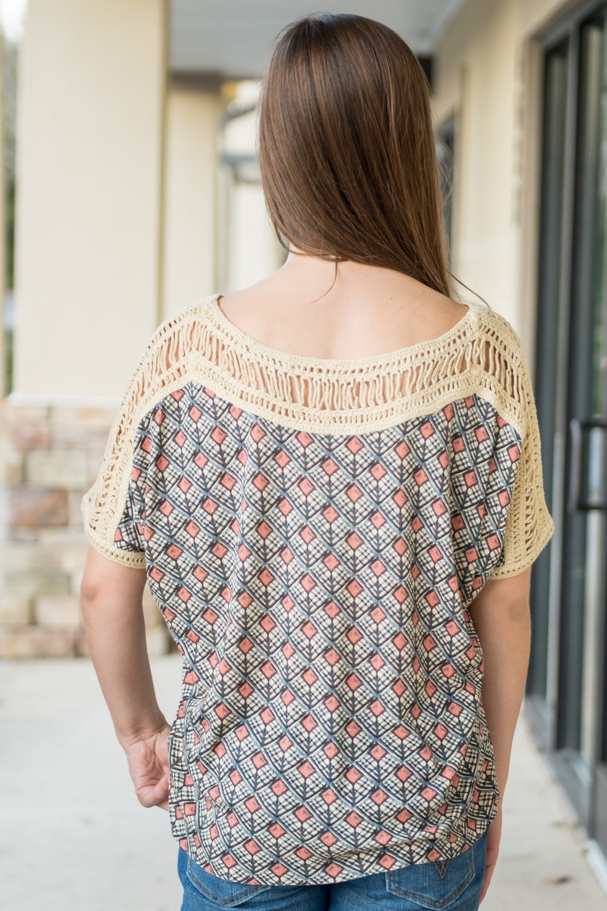Free People: Tribal Grunge Top, Multi