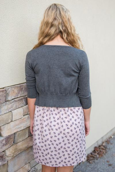 Carolyn Cardigan, Gray
