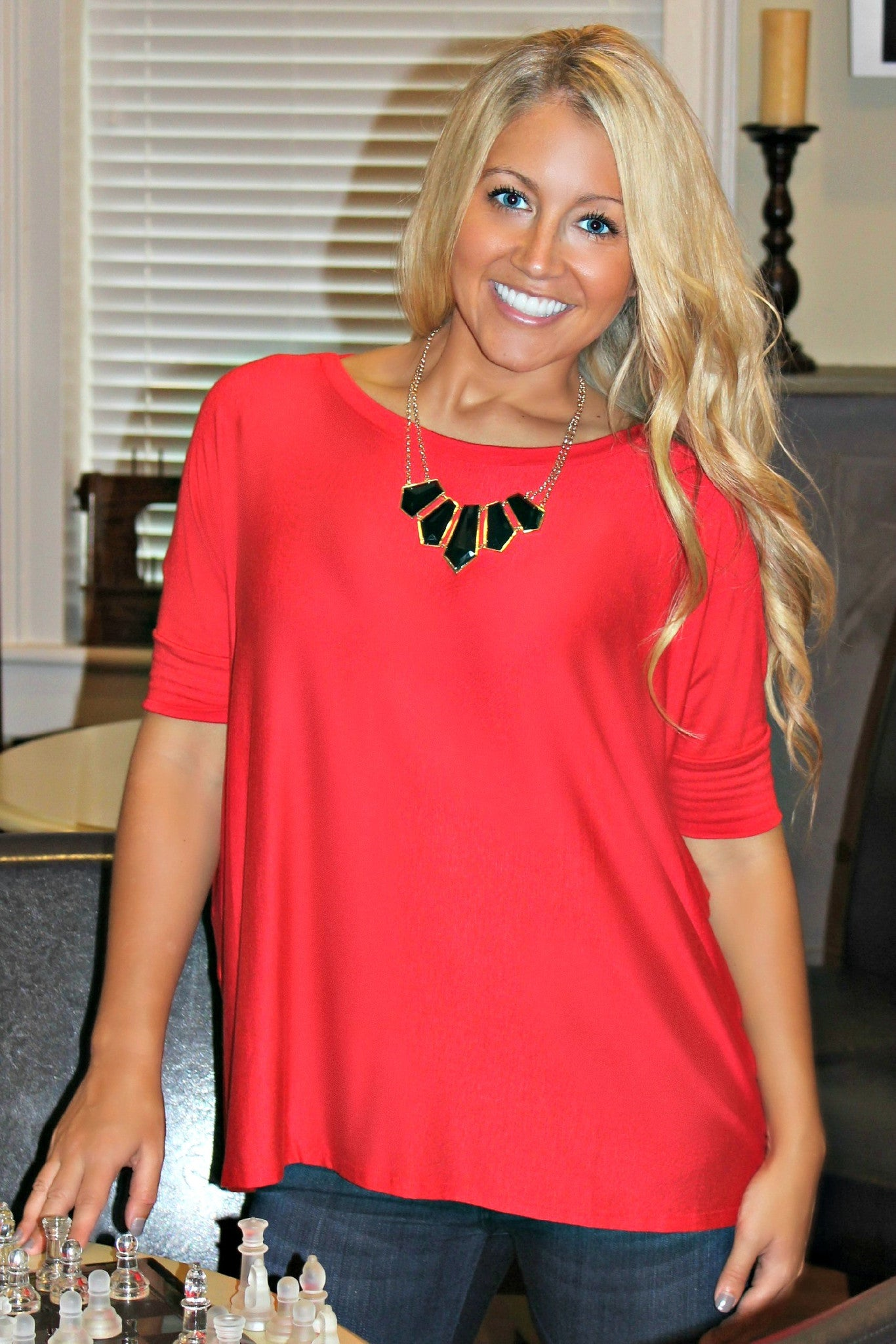 Glam: Clara Top, Red