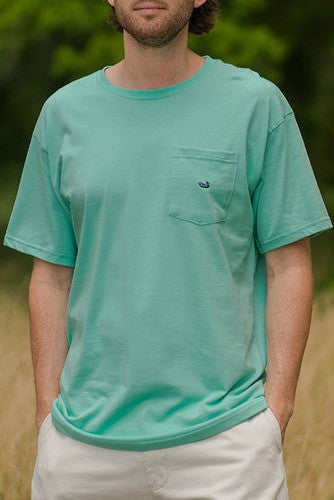 Southern Marsh: Embroidered Pocket Tee, Antigua Blue