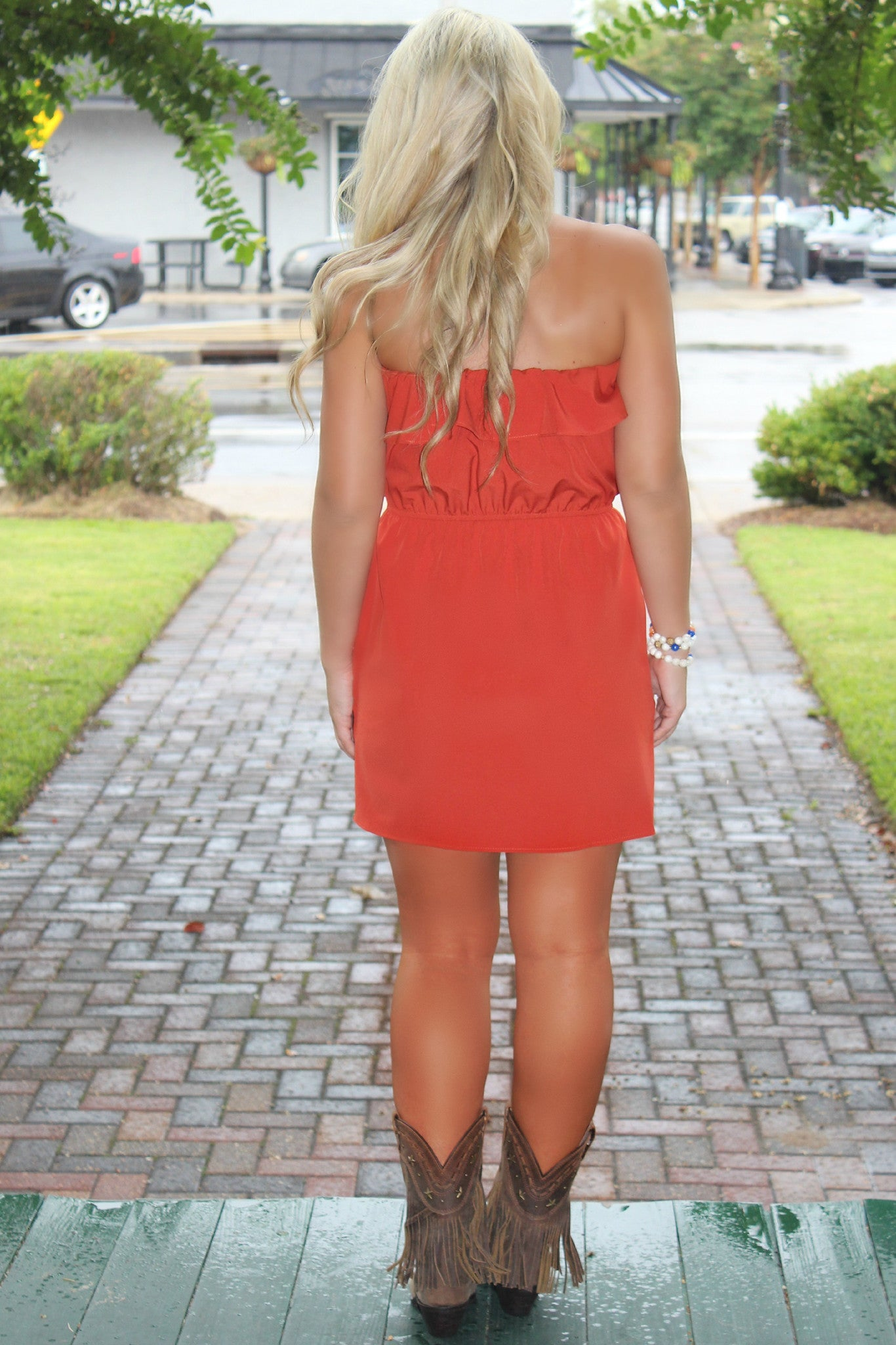 Glam: Lilly Dress, Orange