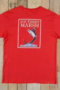 Southern Marsh: Fishing Tee, Red